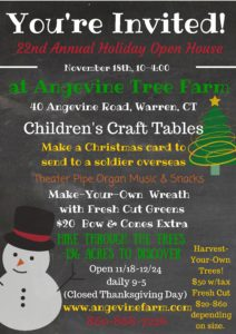 22nd Annual Holiday Open House @ Angevine Farm