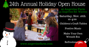 24th Annual Holiday Open House @ Angevine Farm